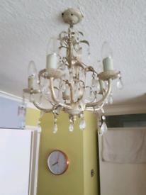 2 Laura Ashley chandeliers including lightbulbs