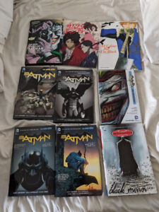 Batman comics and art books