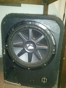 "12"" Kicker CVR Dual Voice Coil Subwoofer in Ported Box"
