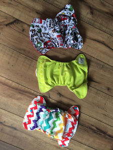 3 cloth diapers (7lbs-18lbs)