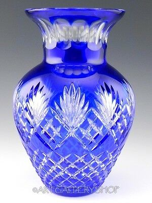 Ajka Crystal COBALT BLUE Cut to Clear ODESSA CAROLINE 9.5