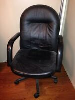 Leather-like computer chair