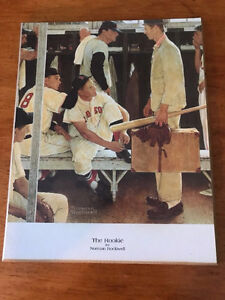 Norman Rockwell Boston Red Sox baseball Painting wall art