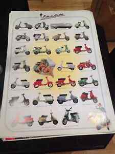 Huge 38x27 vespa scooters bikes mopeheads poster rare new London Ontario image 1