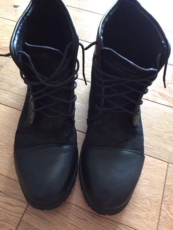 Firetrap black men's boots size 11