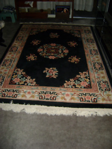 """Chinese Aubusson Oriental Rug (1980s) ... 5'5"""" X 8'"""