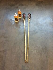 New Lawn Tiki Torches and Citronella Oil