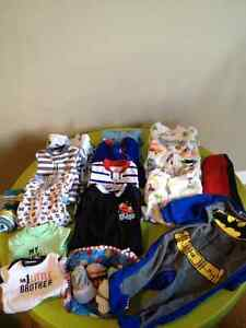 Baby Boy Multi Item: sleepers, onsies, socks all for $5