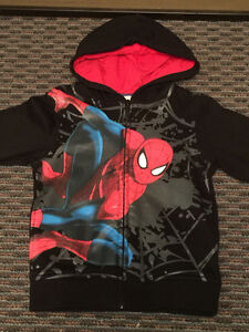 H&M Kids' Spider Man Fleece Lined Hoodie, Size 4-6, LIKE NEW!