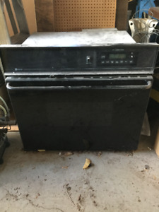 Natural gas oven and grill.