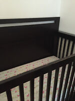 nursery furniture(crib, changing table and shelves)