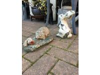 Vintage garden ornaments from £8 as below