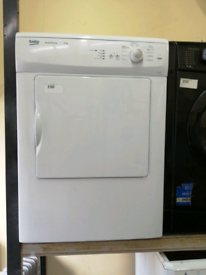 🌞Beko 6kg white vented dryer with warranty at Recyk Appliances
