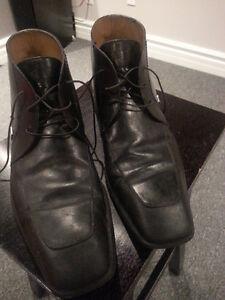 Louis Vuitton Damier Graphite Canvas Ankle Boots sz11