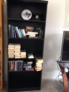 2 BLACK BOOKCASES - PRICE IS FOR BOTH!  NEGOTIABLE!