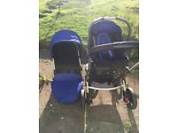 Blue Mothercare travel system