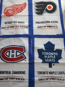 NHL Stanley Cup Dynasty banners from the 1990s