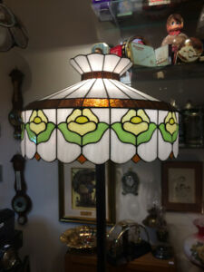 Stained Glass Flower Floor Lamp