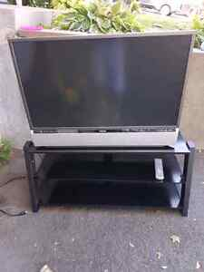 """42"""" DLP Television and stand"""