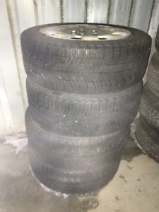 Set of 4 TIRES MICHELIN X-ICE 205-55R16 and 4 RIMS