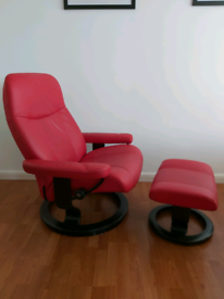 Stressless chair and stool + laptop table
