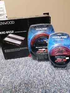 200 OBO - BRAND NEW Kenwood Amp with Connectors