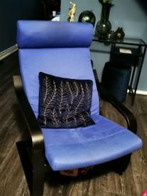 Poang black arm chair