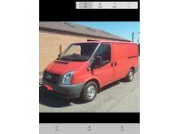 Ford Transit Van 3 seater Van red