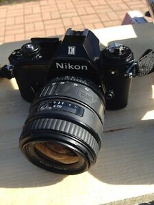 Nikon camera with two lenses