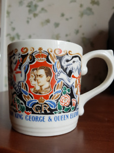 1937 King George and Queen Elizabeth Coronation Mug - Antique