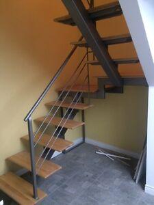 Escalier intérieur métal design