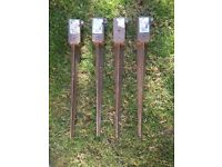 Fence post spikes