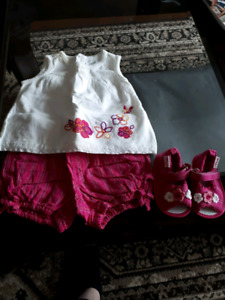 3-6month Summer outfit with sandals