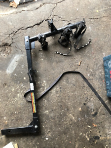 "metal bike rack for trailer 2"" hitch hold 4 bike multi position"