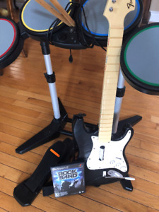 Play Station 2 Rock Band Game and equipment