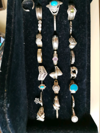 Joblot of Used Silver 925 hallmark rings x 24