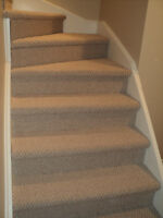 Carpet 12 Boxed Stairs (With No Spindles) in Berber for $250
