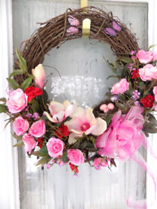 Hand Made Spring Themed Wreath