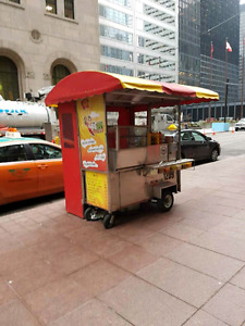Hot dog cart with location for rent