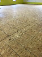 Particle plywood board sub flooring