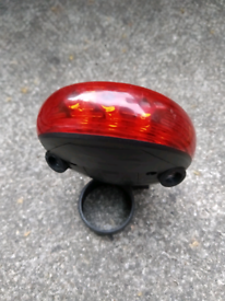 Bicycle tail LED light with bike footprint laser