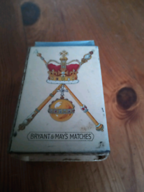 1937 king George coronation matchbox
