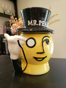 Vintage Planter's Mr. Peanut ceramic COOKIE JAR