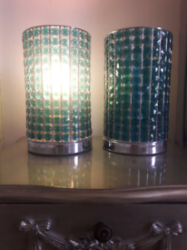 2x bedside lamps with light bulbs - only £ 20