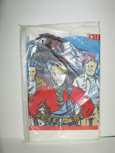 1980's A TEAM PAPER TABLECLOTH COVER FACTORY SEALED UNUSED