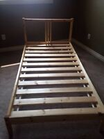 Twin IKEA bed frame and slats
