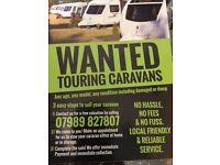 Touring caravans wanted- best prices paid