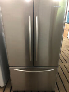 """KitchenAid  36"""" Wide Stainless Steel Side By Side Fridge"""