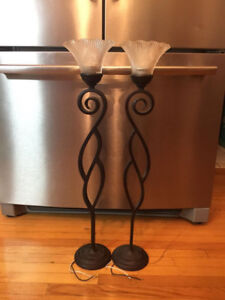 Pair Of Light Fixtures For High Ceilings