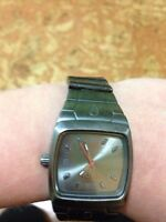 Stainless steel Nixon watch